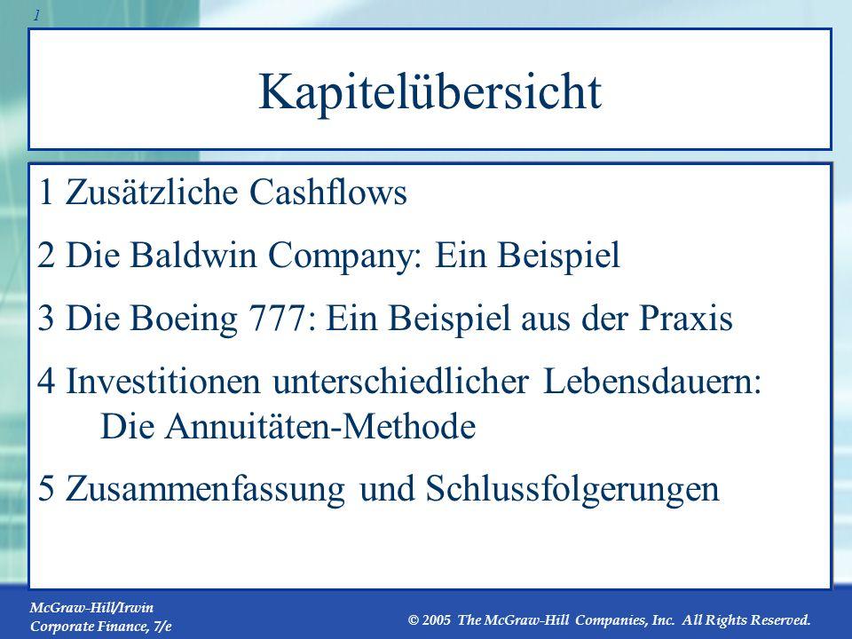 Kapitelübersicht 1 Zusätzliche Cashflows