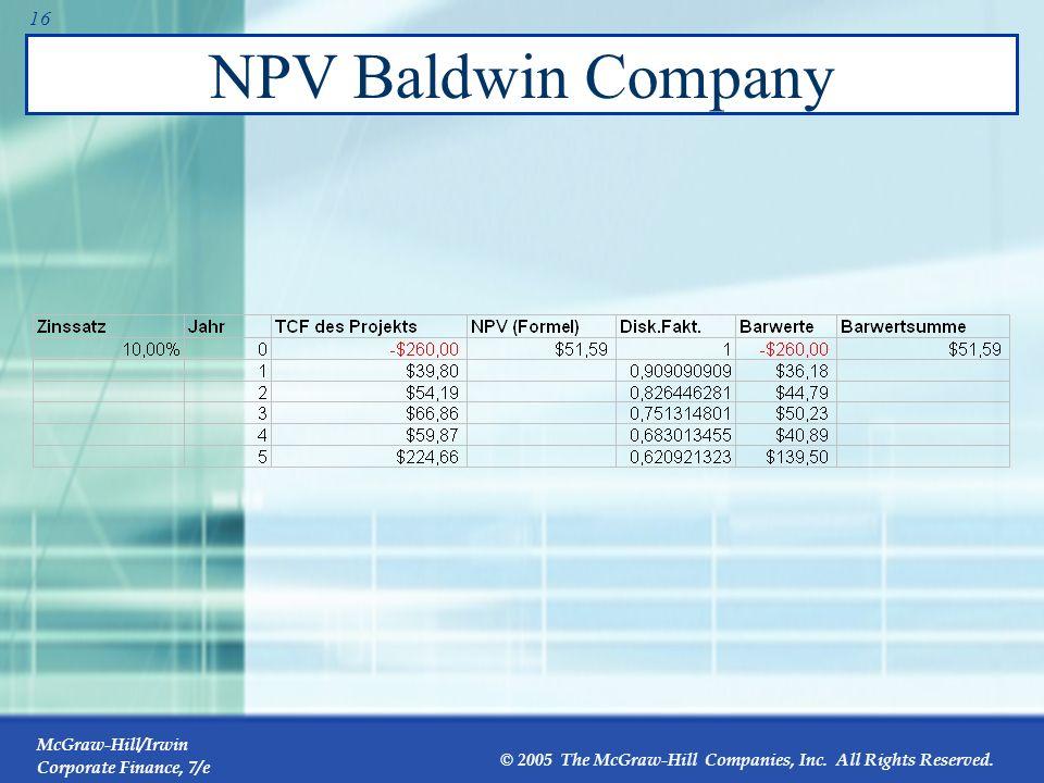 NPV Baldwin Company