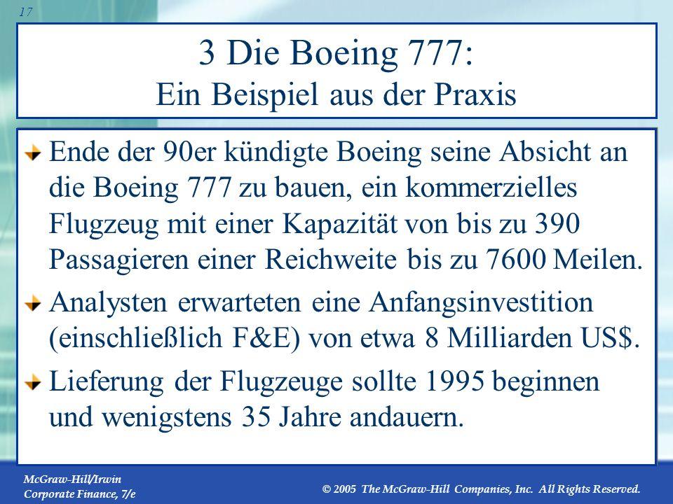 3 Die Boeing 777: Ein Beispiel aus der Praxis
