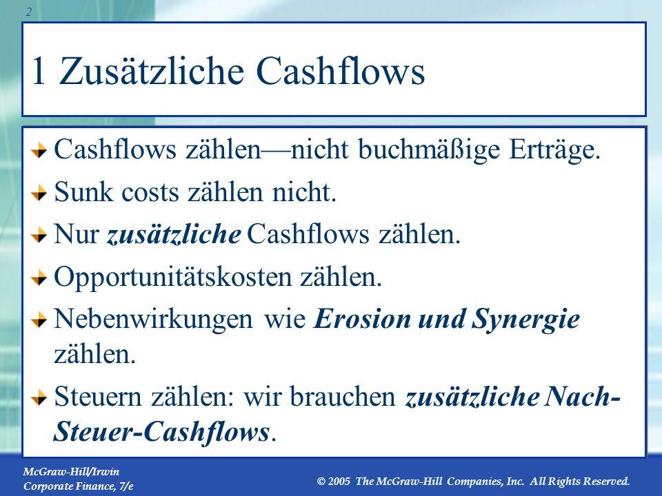 1 Zusätzliche Cashflows