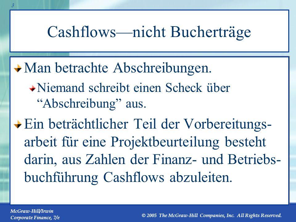Cashflows—nicht Bucherträge
