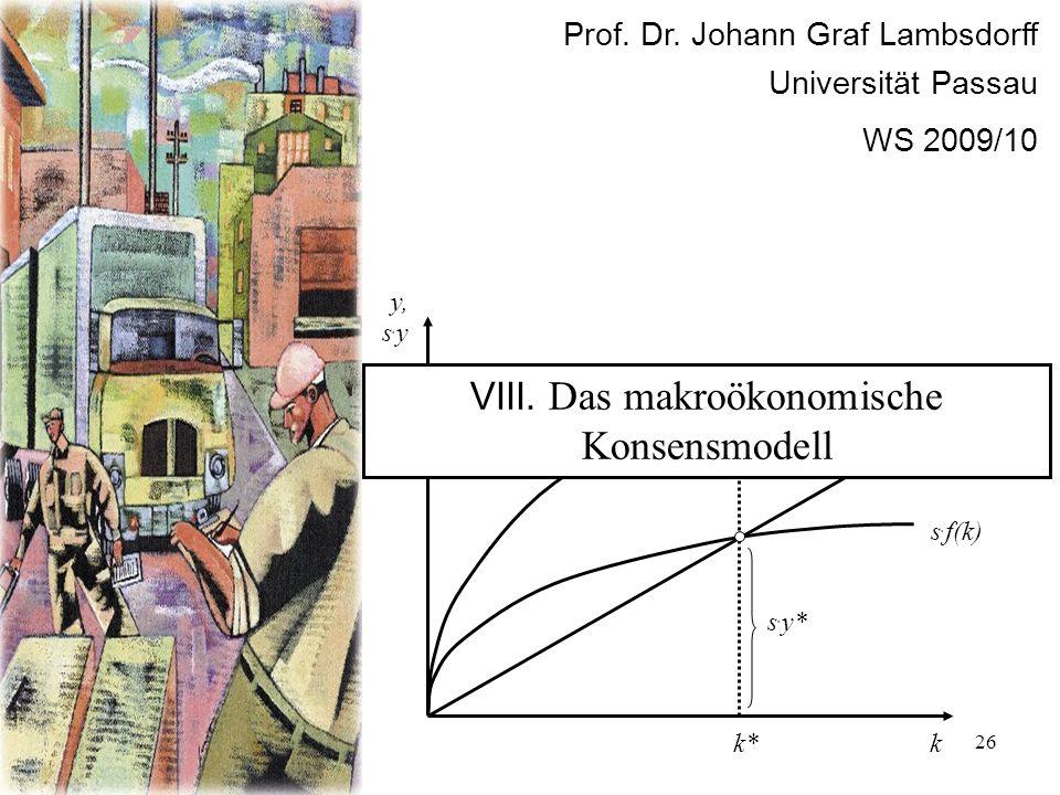 VIII. Das makroökonomische Konsensmodell