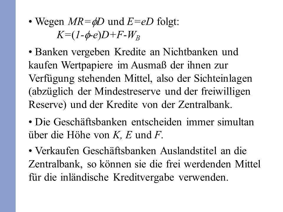 Wegen MR=fD und E=eD folgt: K=(1-f-e)D+F-WB