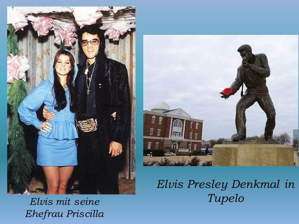 Elvis Presley Denkmal in Tupelo
