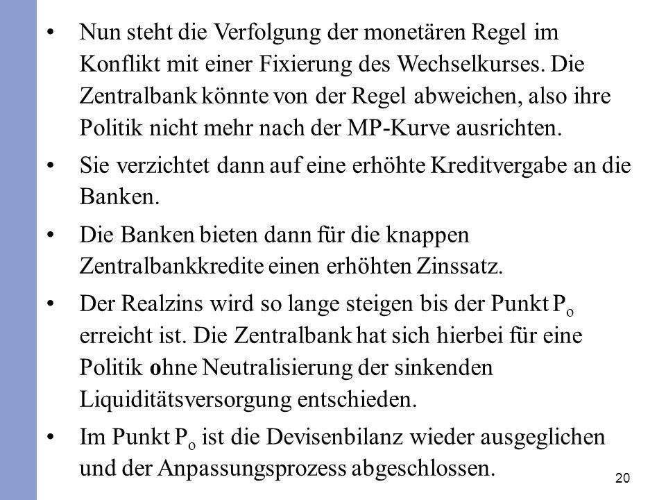 Sie verzichtet dann auf eine erhöhte Kreditvergabe an die Banken.