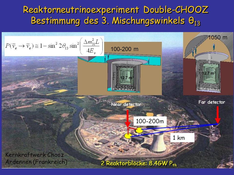 Reaktorneutrinoexperiment Double-CHOOZ Bestimmung des 3