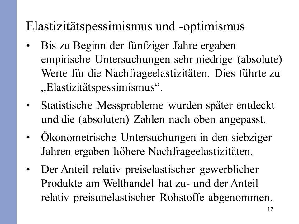 Elastizitätspessimismus und -optimismus