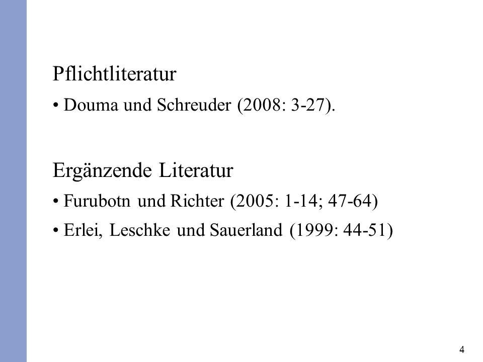 Pflichtliteratur Ergänzende Literatur