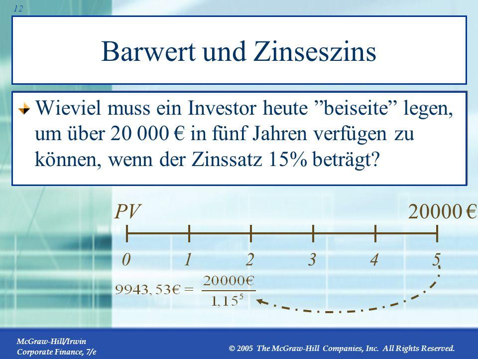Barwert und Zinseszins