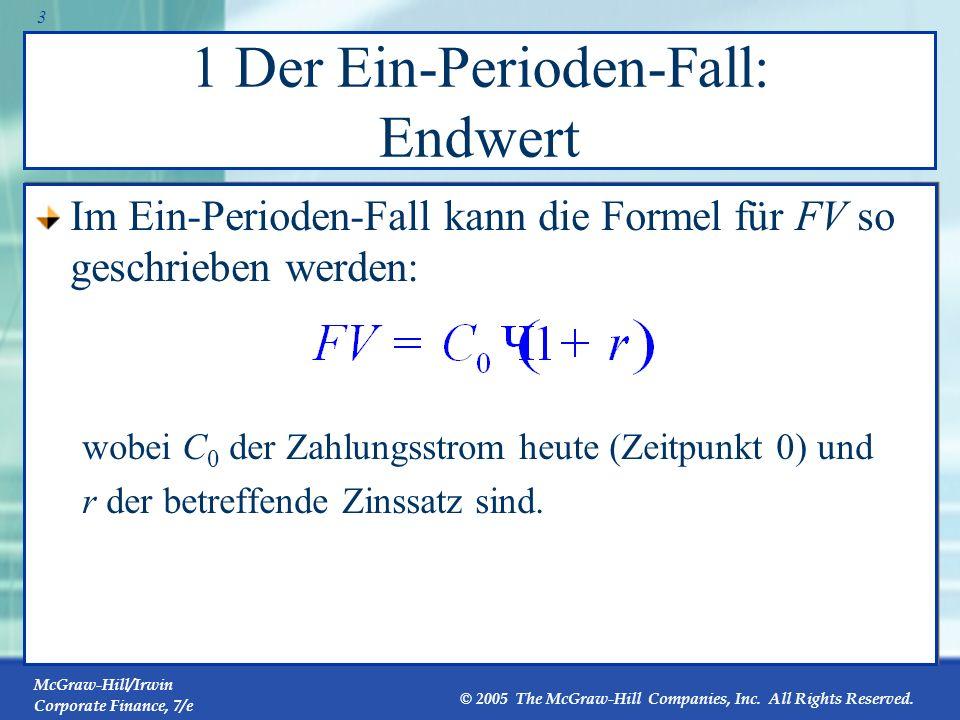 1 Der Ein-Perioden-Fall: Endwert