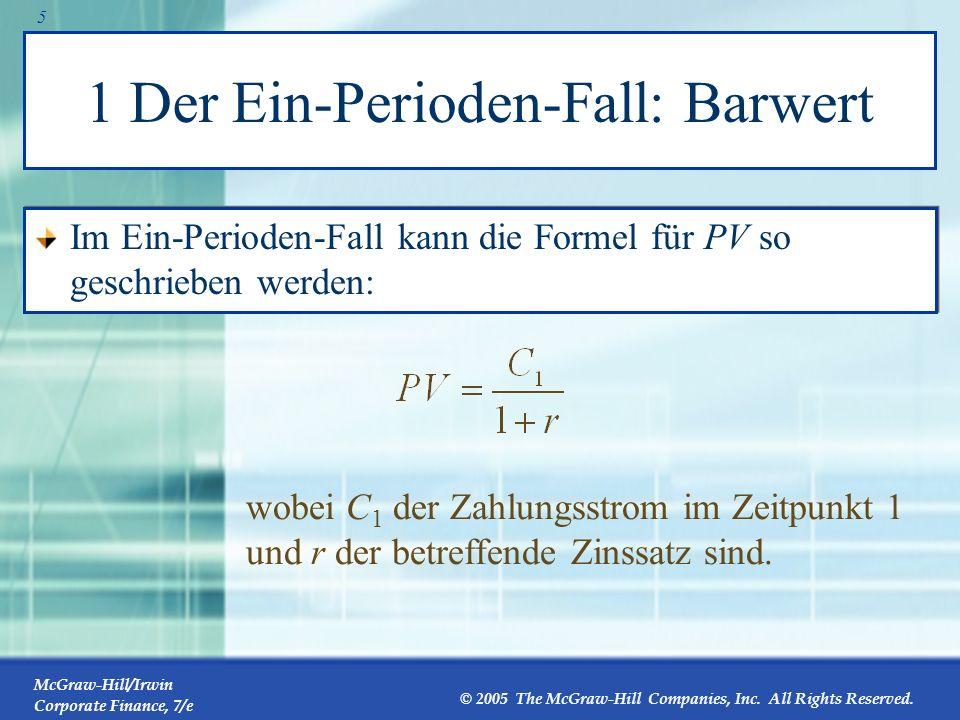 1 Der Ein-Perioden-Fall: Barwert