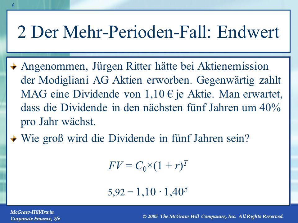 2 Der Mehr-Perioden-Fall: Endwert