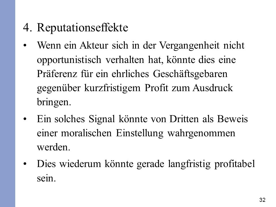 Reputationseffekte