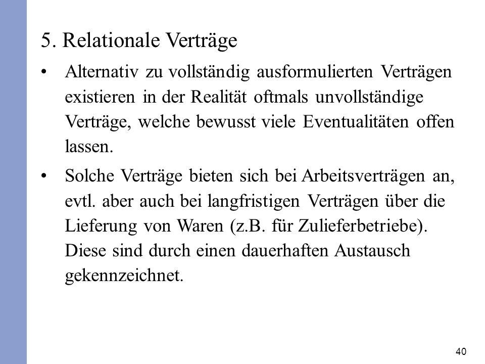 5. Relationale Verträge