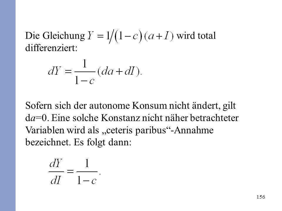 Die Gleichung wird total differenziert: