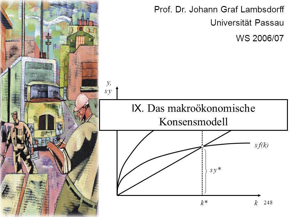 IX. Das makroökonomische Konsensmodell