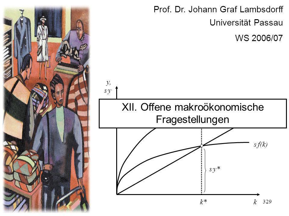 XII. Offene makroökonomische Fragestellungen