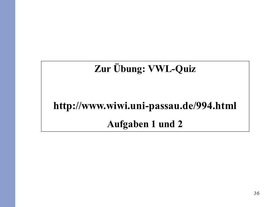 http://www.wiwi.uni-passau.de/994.html Zur Übung: VWL-Quiz