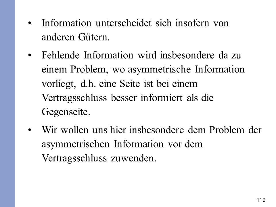 Information unterscheidet sich insofern von anderen Gütern.
