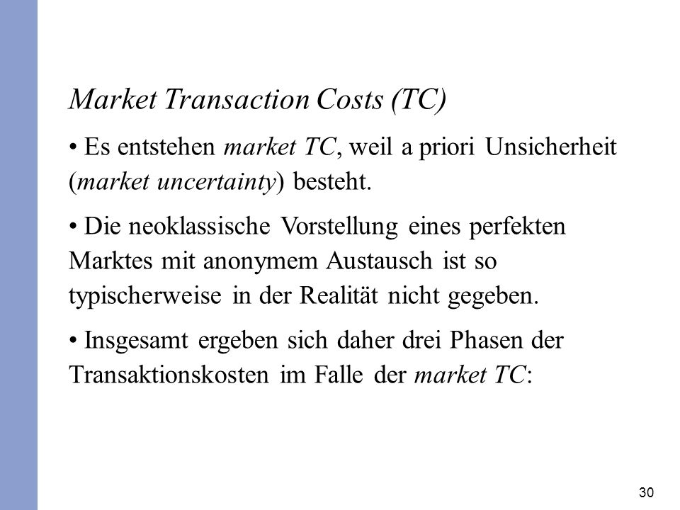 Market Transaction Costs (TC)