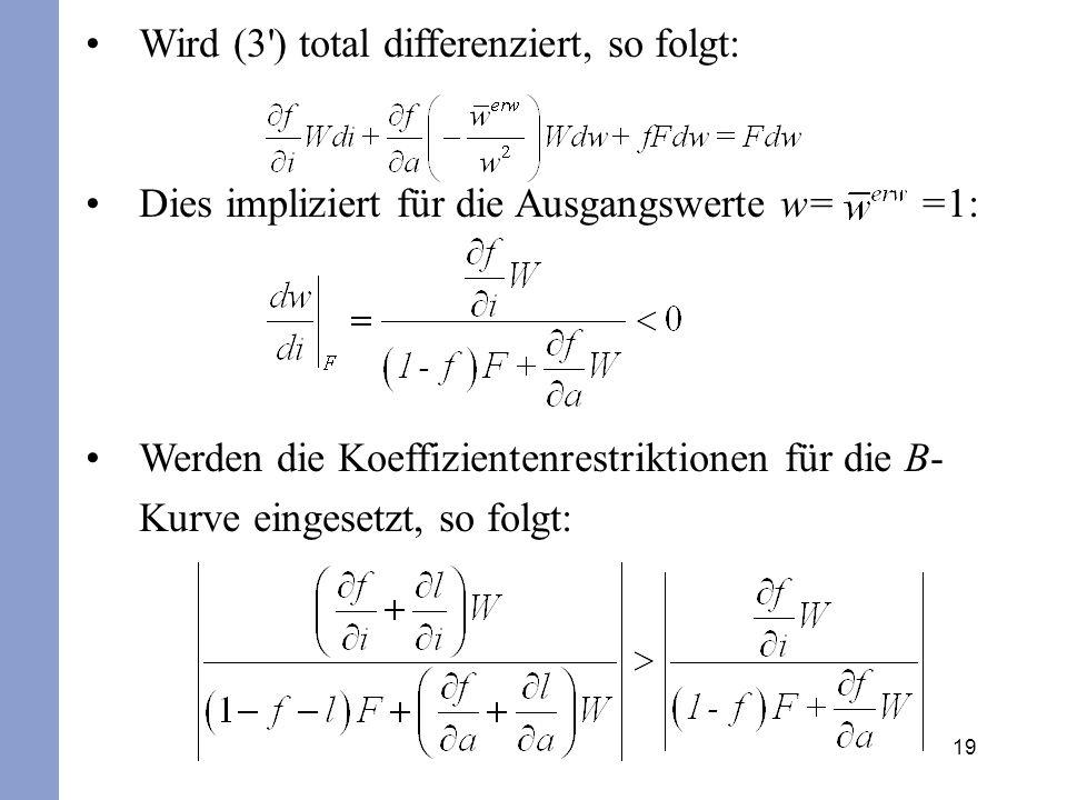 Wird (3 ) total differenziert, so folgt: