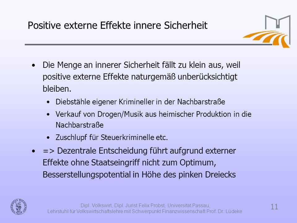 Positive externe Effekte innere Sicherheit