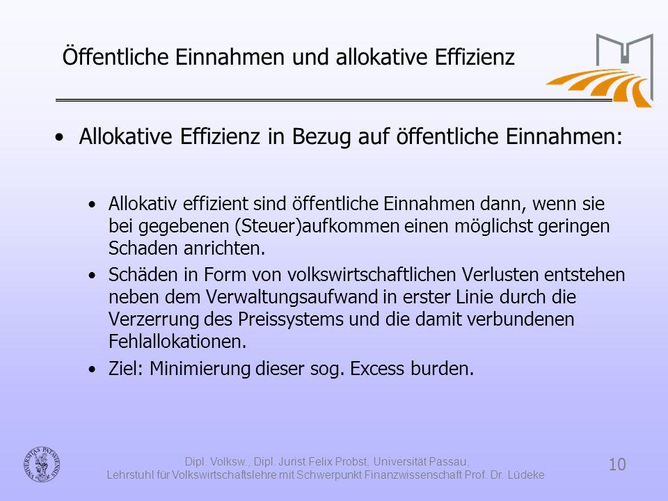 Öffentliche Einnahmen und allokative Effizienz