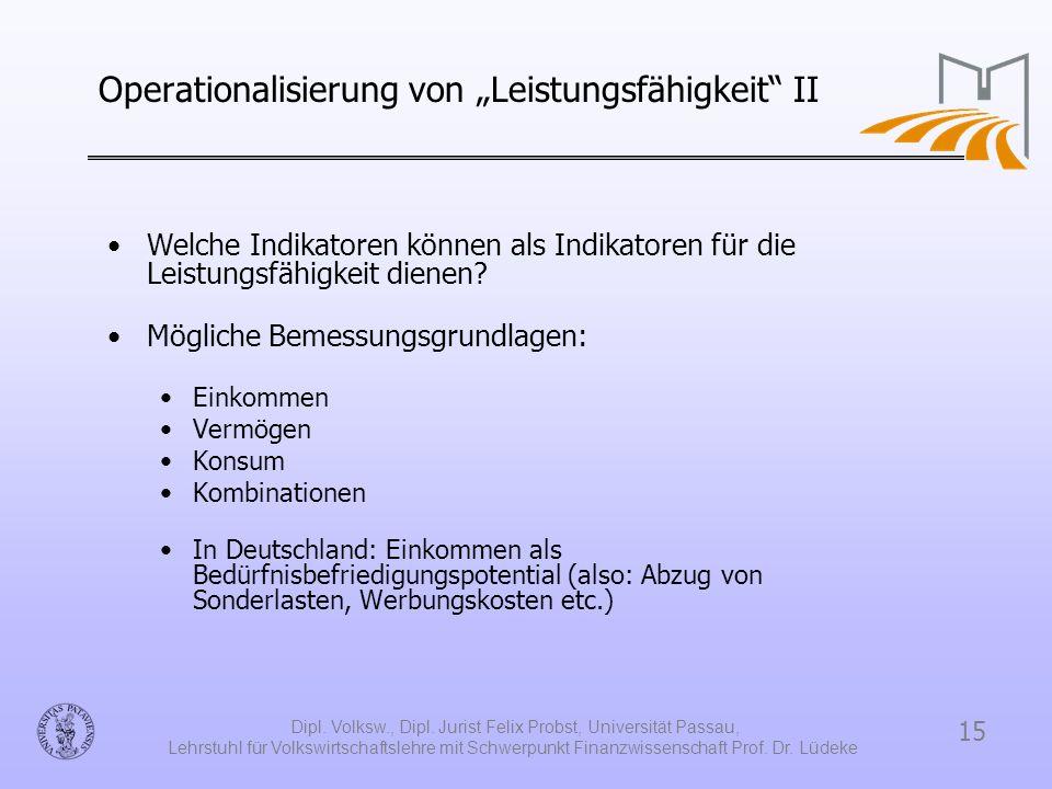 """Operationalisierung von """"Leistungsfähigkeit II"""