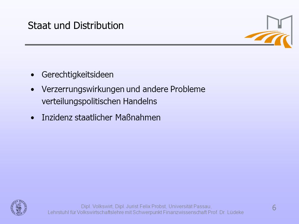 Staat und Distribution