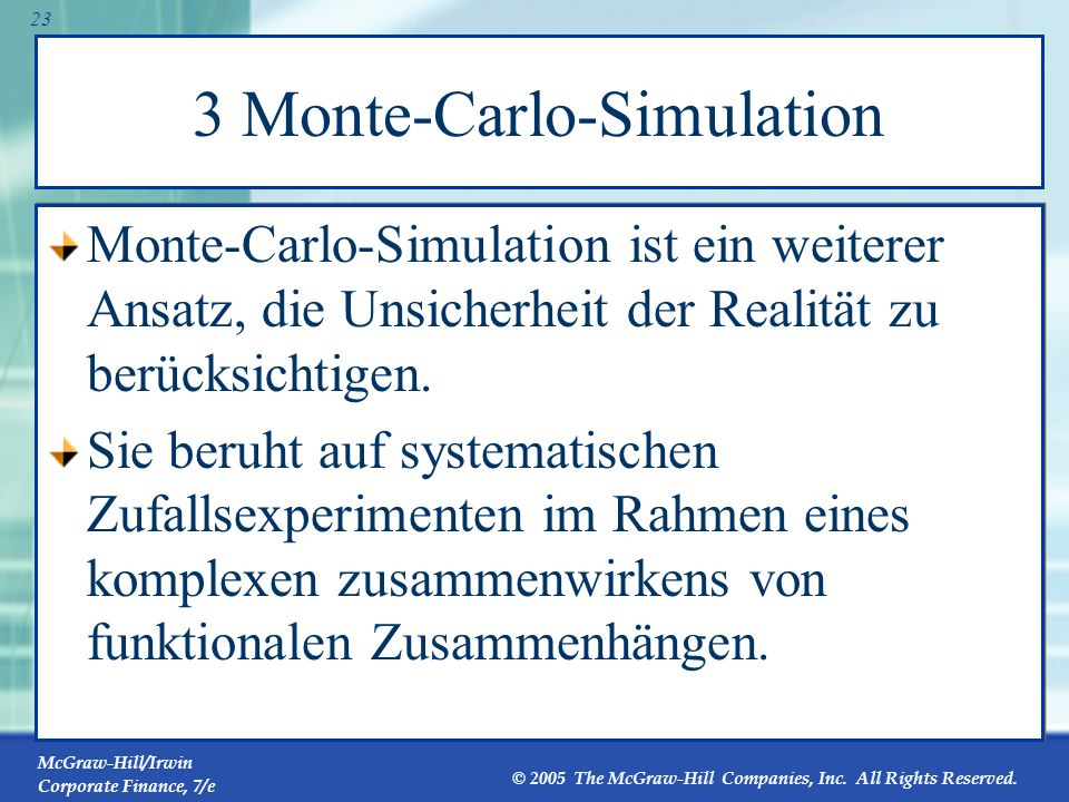 3 Monte-Carlo-Simulation