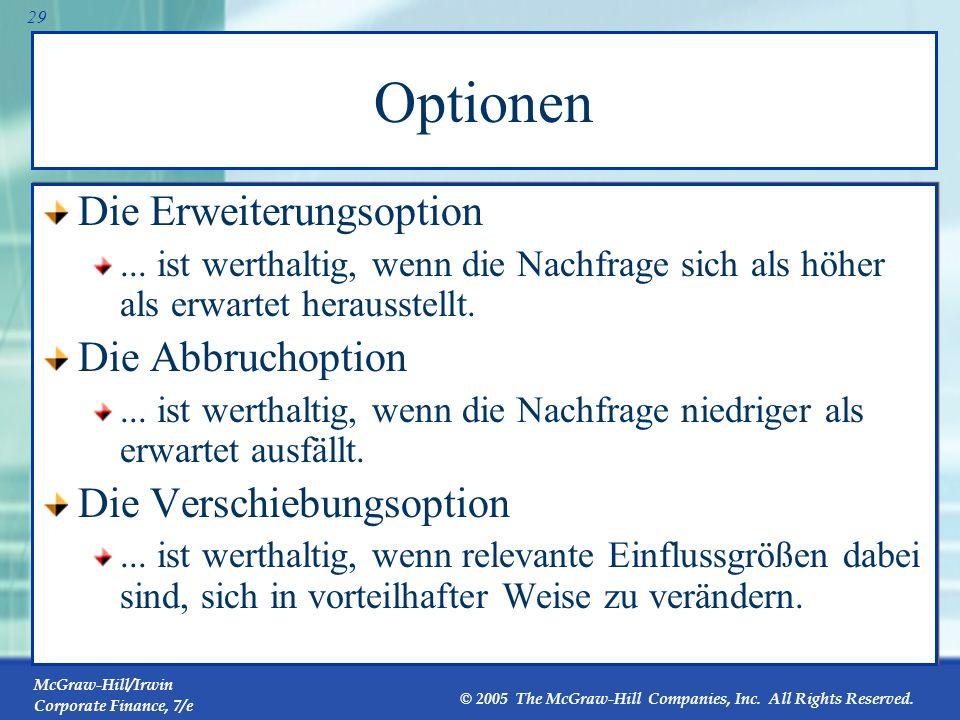 Optionen Die Erweiterungsoption Die Abbruchoption