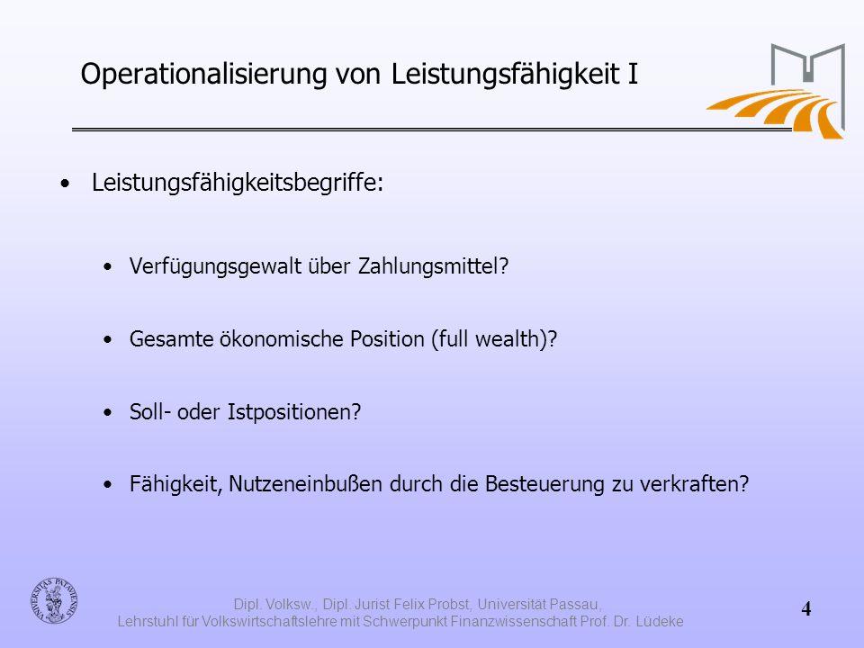 Operationalisierung von Leistungsfähigkeit I