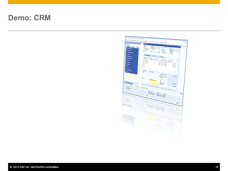 Demo: CRM