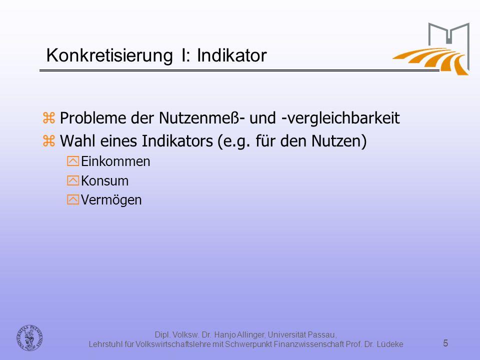 Konkretisierung I: Indikator