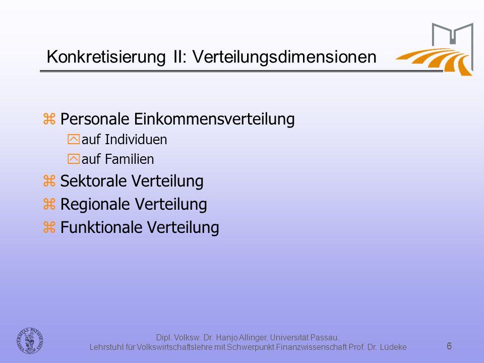 Konkretisierung II: Verteilungsdimensionen