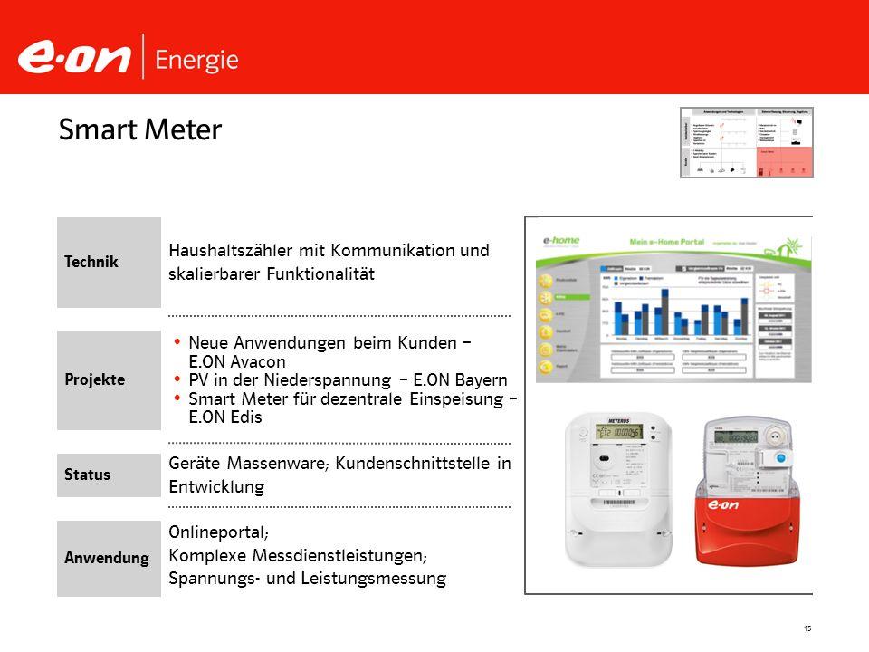 Smart Meter Technik. Haushaltszähler mit Kommunikation und skalierbarer Funktionalität. Projekte.