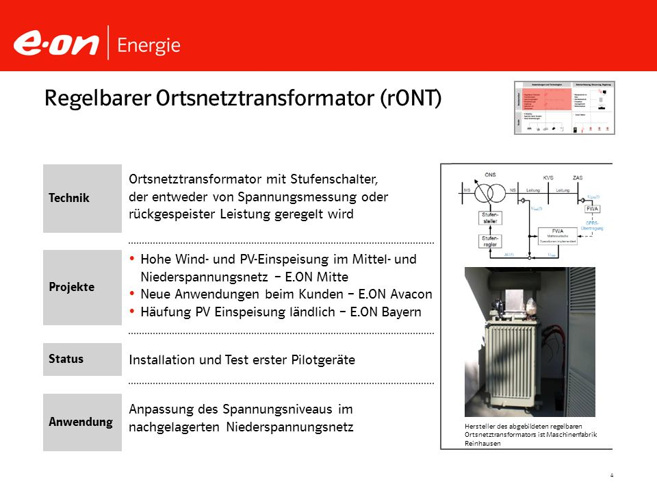 Regelbarer Ortsnetztransformator (rONT)
