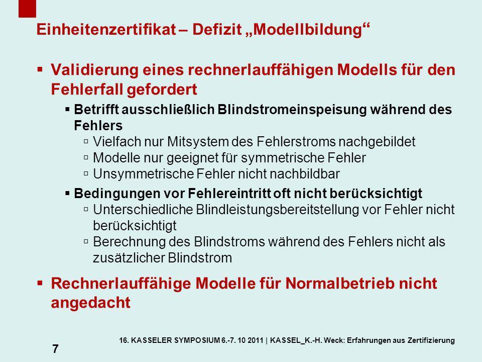 """Einheitenzertifikat – Defizit """"Modellbildung"""