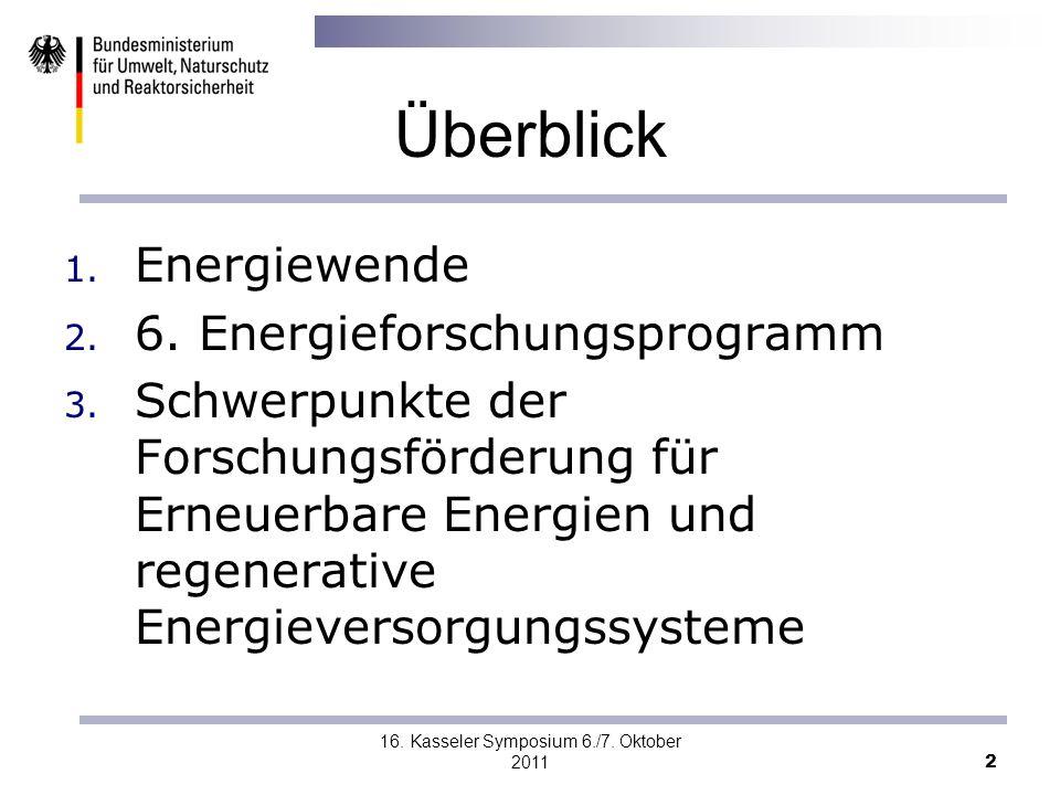 16. Kasseler Symposium 6./7. Oktober 2011