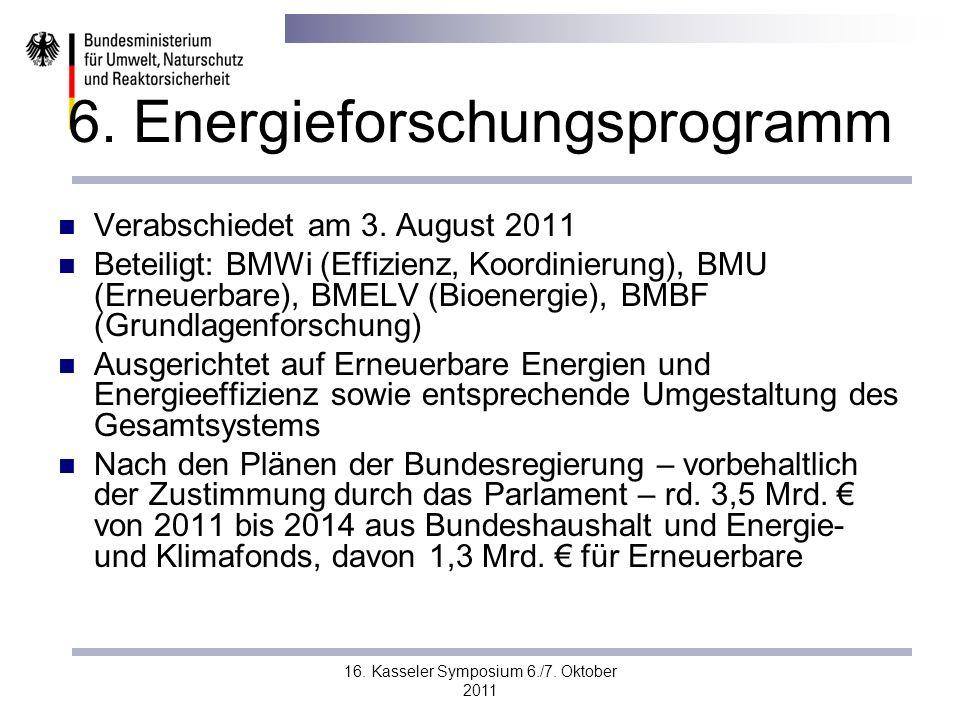 6. Energieforschungsprogramm