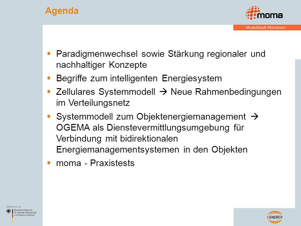 Agenda Paradigmenwechsel sowie Stärkung regionaler und nachhaltiger Konzepte. Begriffe zum intelligenten Energiesystem.