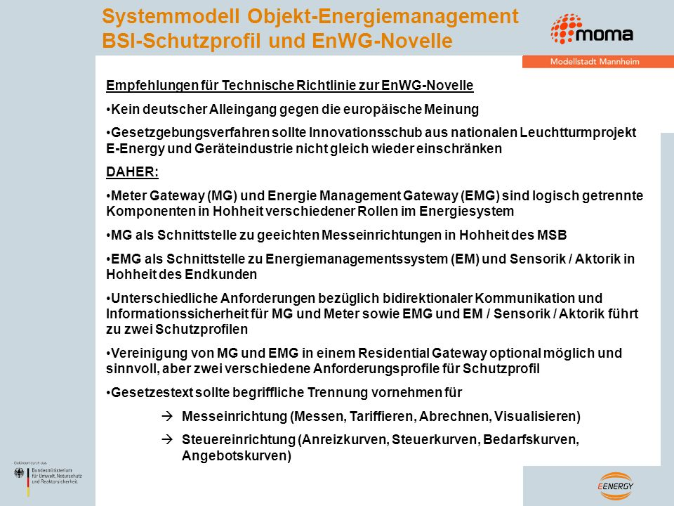 Systemmodell Objekt-Energiemanagement