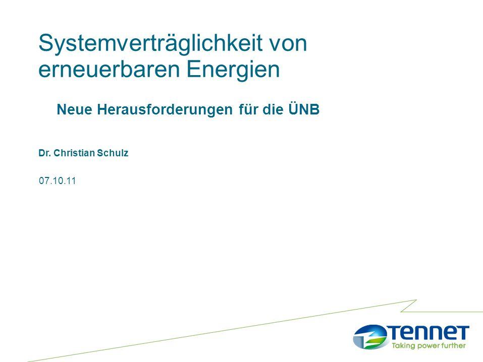 Systemverträglichkeit von erneuerbaren Energien