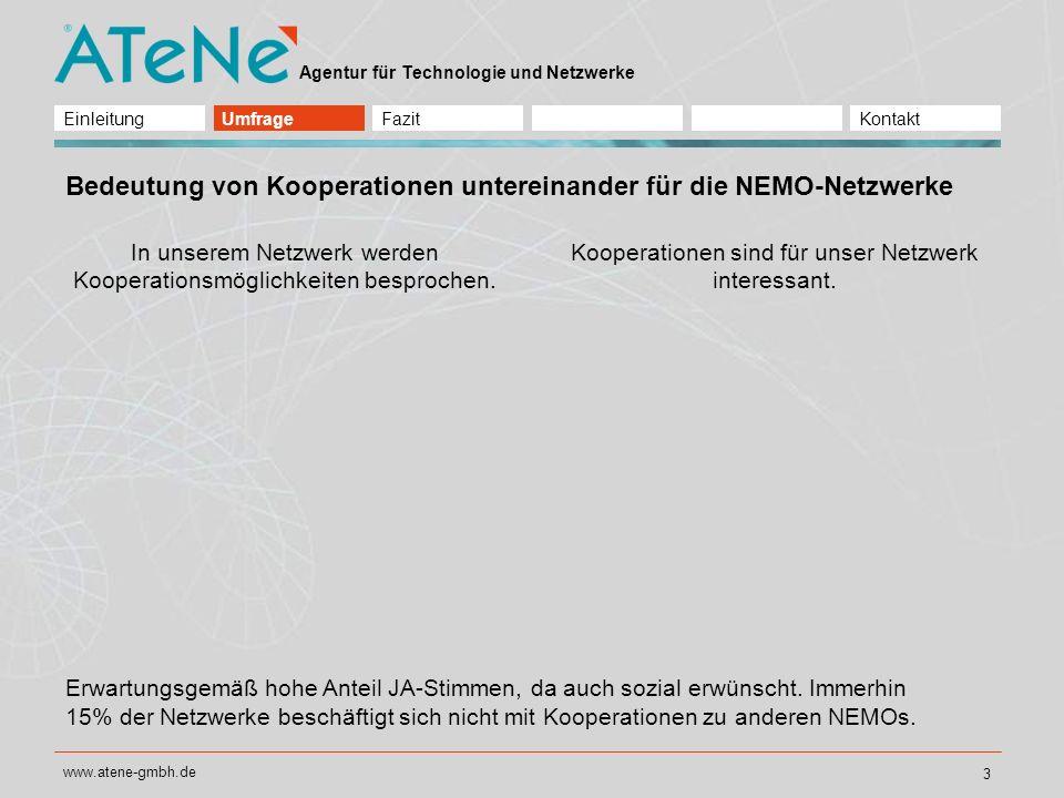 Bedeutung von Kooperationen untereinander für die NEMO-Netzwerke