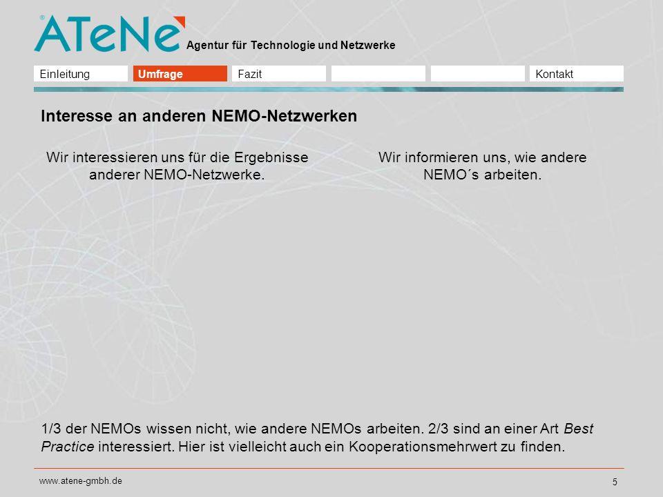Interesse an anderen NEMO-Netzwerken
