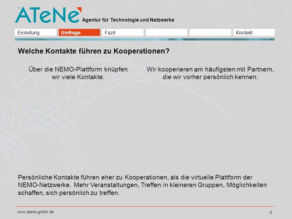 Über die NEMO-Plattform knüpfen wir viele Kontakte.