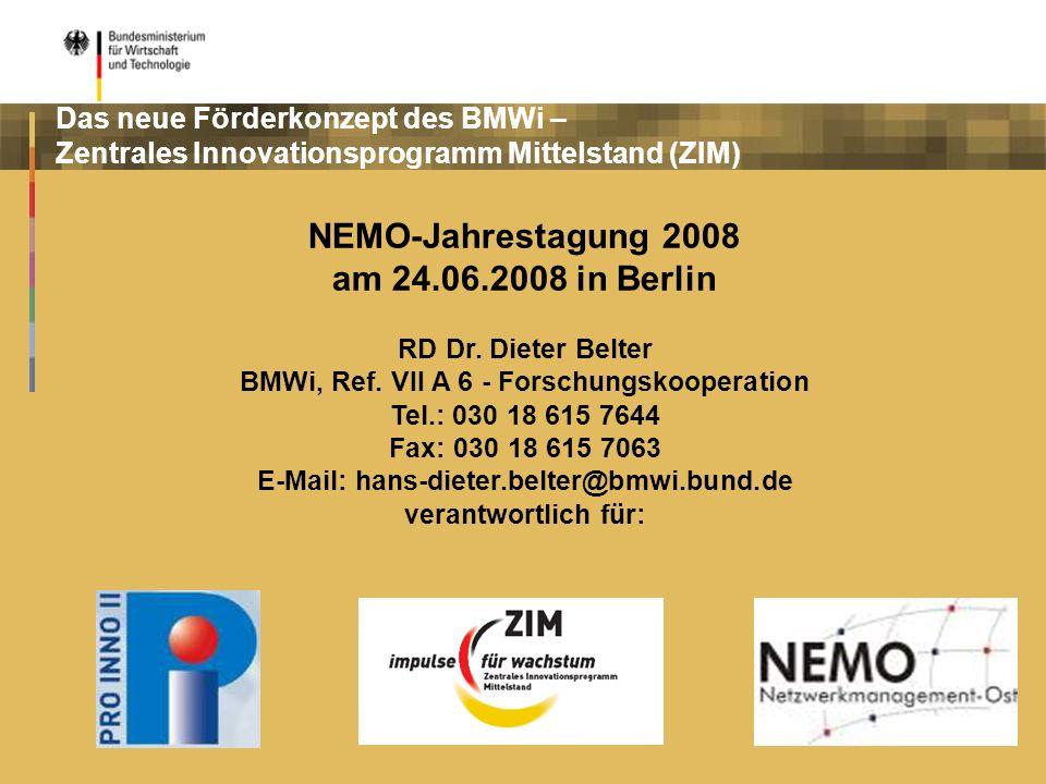 NEMO-Jahrestagung 2008 am 24.06.2008 in Berlin