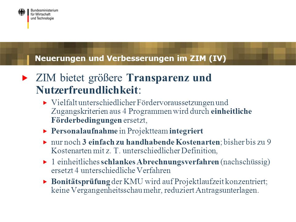Neuerungen und Verbesserungen im ZIM (IV)