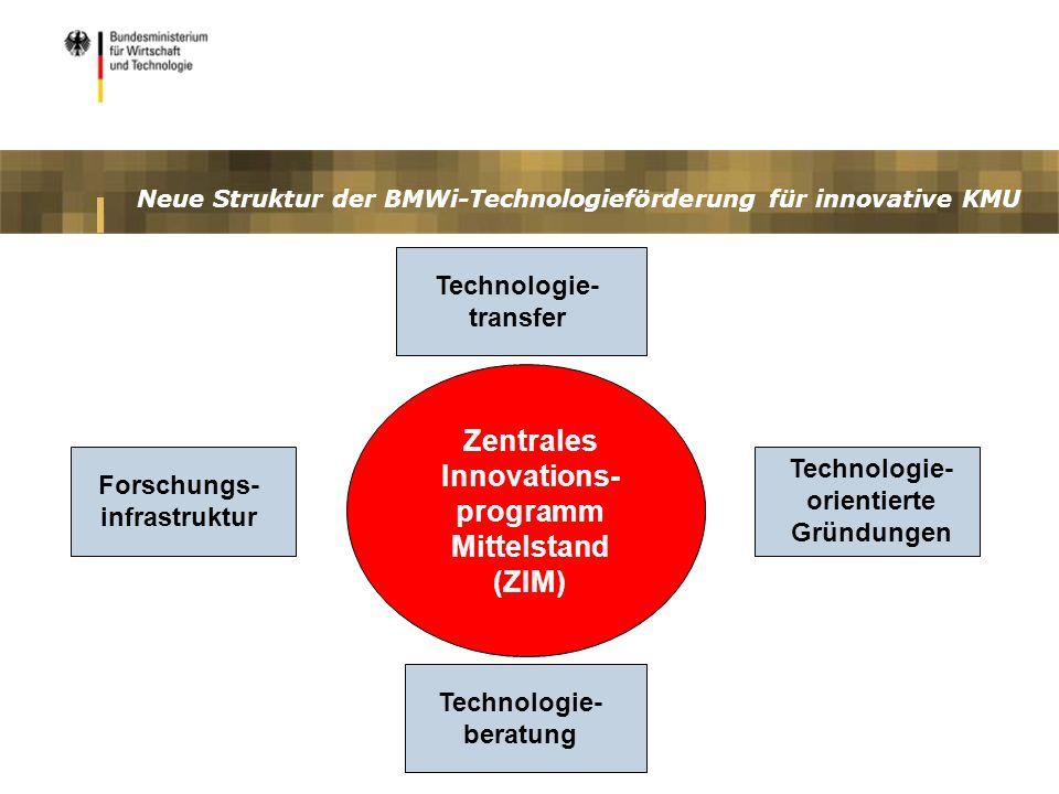 Neue Struktur der BMWi-Technologieförderung für innovative KMU