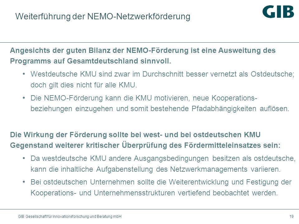 Weiterführung der NEMO-Netzwerkförderung